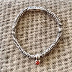 "NWT! UNO de 50 Bracelet ""Orange Stone"" PUL1690."